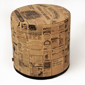 Pufa dekoracyjna Newspaper 40x40