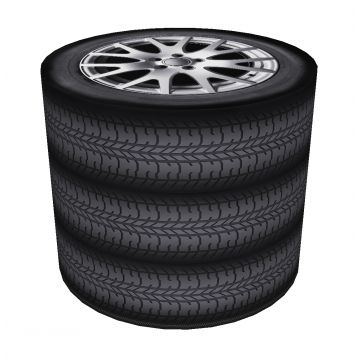 Pufa dekoracyjna Tyres 40x40