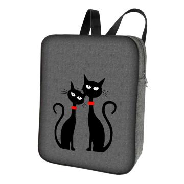 Plecak filcowy Smart Czarne Koty