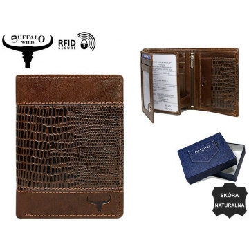 Portfel Męski Skórzany N4-VTC Brown