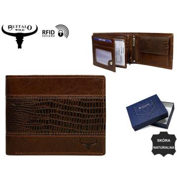 Portfel Męski Skórzany N992-VTC Brown
