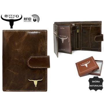Portfel Męski Skórzany RM-04L-BAW2 Brown