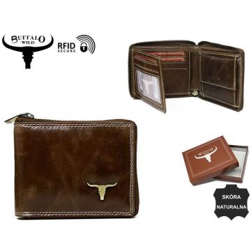 Portfel Męski Skórzany RM-02Z-BAW2 Brown