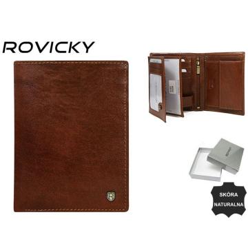 Portfel Męski Skórzany N4-RVT Brown
