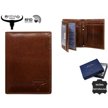 Portfel Męski Skórzany N890-VTU Brown