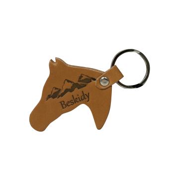 Brelok Skórzany Koń (10szt) HG008 Beskidy L.Brown