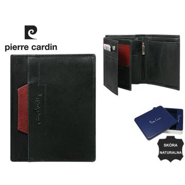 Portfel Skórzany Pierre Cardin 326-VO-02 Nero+Rosso