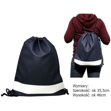 Worek-plecak zw Navy+White zw