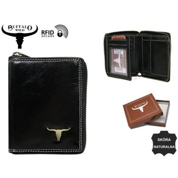 Portfel Męski Skórzany RM-03Z-BAW Black