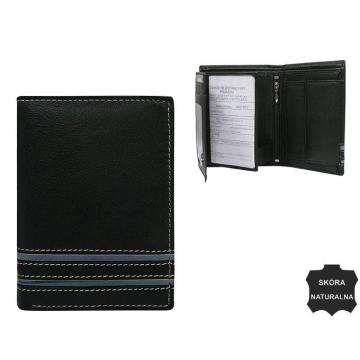 Portfel Męski Skórzany N4-SGT Black+Gray