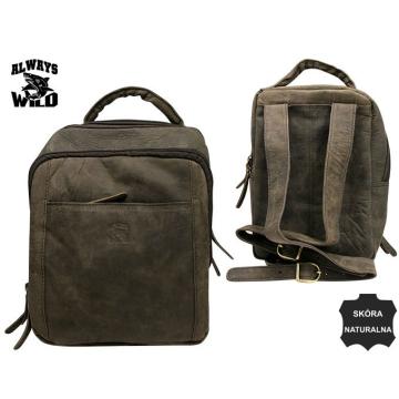 Plecak Skórzany 4055-S-CBH Brown BEZRABATOWY