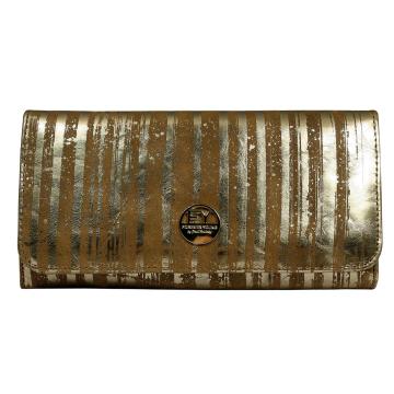 Portfel Damski Skórzany 1077-LN Gold
