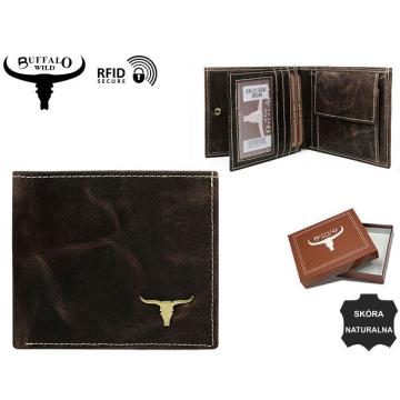 Portfel Męski Skórzany RM-01-BAW  Brown