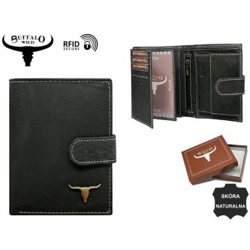 Portfel Męski Skórzany RM-03L-BAW Black N