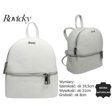 Plecak Mały Skórzany TM-015 White bez rabatowy