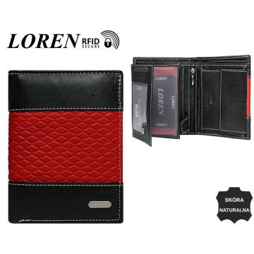 Portfel Męski Skórzany N4-DDG Black+Red