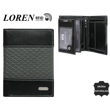 Portfel Męski Skórzany N4-DDG Black+Grey