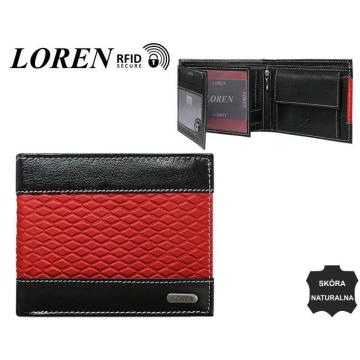 Portfel Męski Skórzany N992-DDG Black+Red