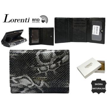 Portfel Damski Skórzany 15-09-MSN-RFID Black