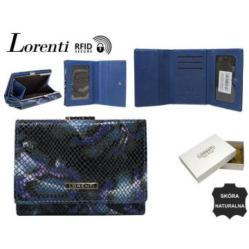 Portfel Damski Skórzany 15-09-MSN-RFID Blue