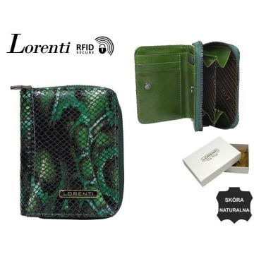 Portfel Damski Skórzany 5157-MSN-RFID Green