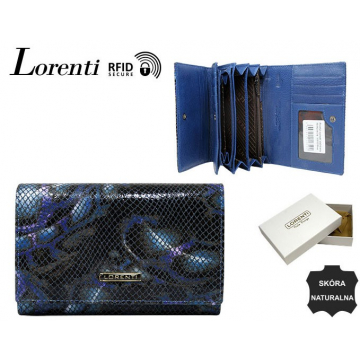 Portfel Damski Skórzany 76112-MSN-RFID Blue