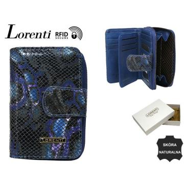 Portfel Damski Skórzany 76115-MSN-RFID Blue