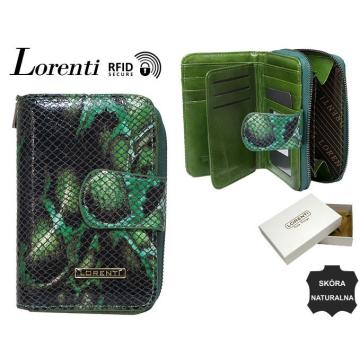 Portfel Damski Skórzany 76115-MSN-RFID Green