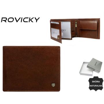Portfel Męski Skórzany N992-RVT Brown