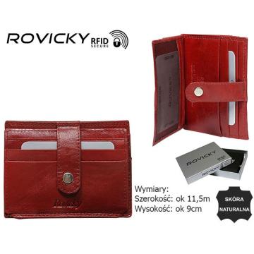 Skórzane Etui na Dokumenty N1902-RVTK Red