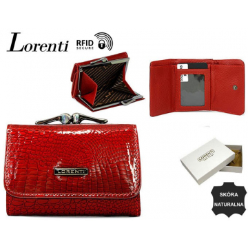 Portfel Damski Skórzany 55287-RS-RFID Red