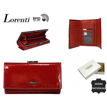 Portfel Damski Skórzany 55020-RS-RFID Red