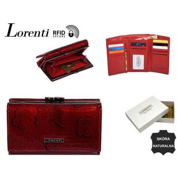 Portfel Damski Skórzany 55020-RSBF-RFID Red