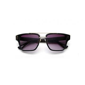"OKULARY UNISEX ""ROYAL MEN"" - CZARNE OK77"