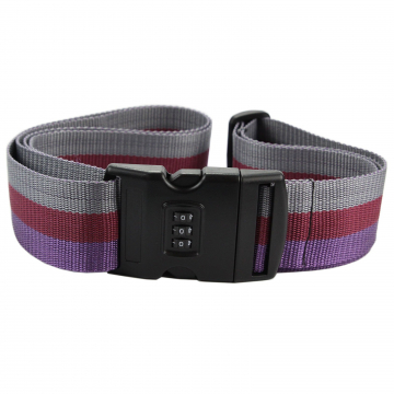 Gregorio Luggage Strap with Lock (fioletowy)