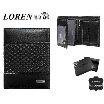 Portfel Męski Skórzany N4-DDG-BOX Black