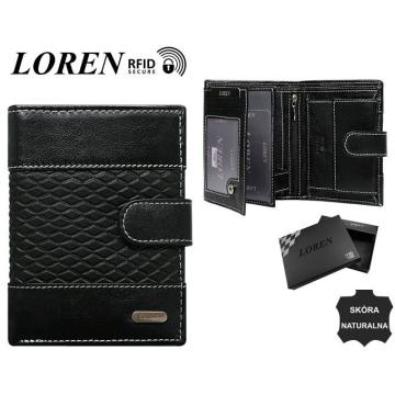 Portfel Męski Skórzany N4L-DDG-BOX Black