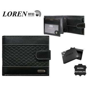 Portfel Męski Skórzany N992L-DDG-BOX Black
