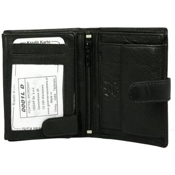 Portfel męski skórzany 0001L-D-RFID Black