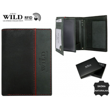 Portfel Męski Skórzany N4-SHS-RFID Grey