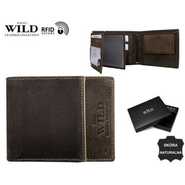 Portfel Męski Skórzany N992-SHS-RFID Brown
