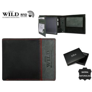Portfel Męski Skórzany N992-SHS-RFID Grey