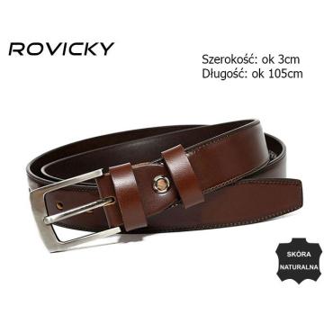 Pasek Męski Skórzany Wąski (5szt.) PRW-08-N