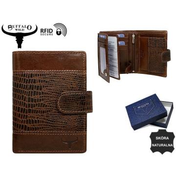 Portfel Męski Skórzany N4L-VTC Brown-RFID