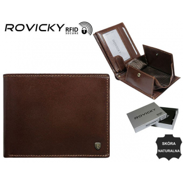 Portfel Męski Skórzany N61-RVT Brown