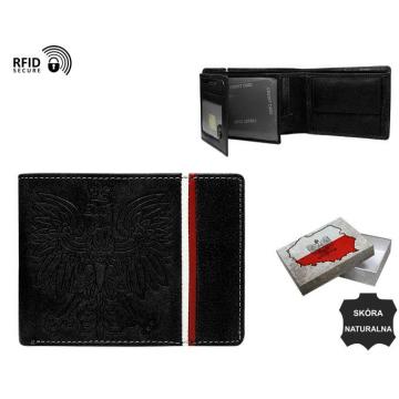 Portfel Męski Skórzany N992A-HP-BOX Black