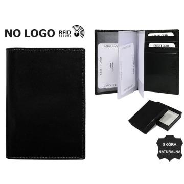 Skórzane Etui na dokumenty TW-12-VT-NL Black RFID