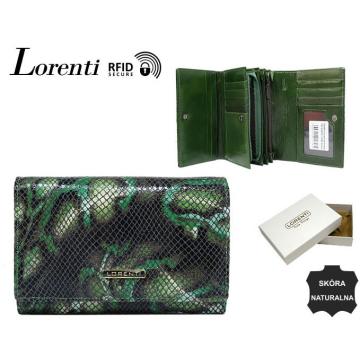 Portfel Damski Skórzany 76112-MSN-RFID Green
