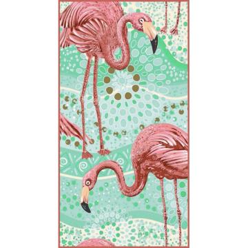 Ręcznik plażowy prostokątny mały 150x70 Flamingi REC45WZ10