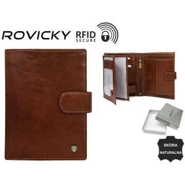 Portfel Męski Skórzany N4L-RVT Brown